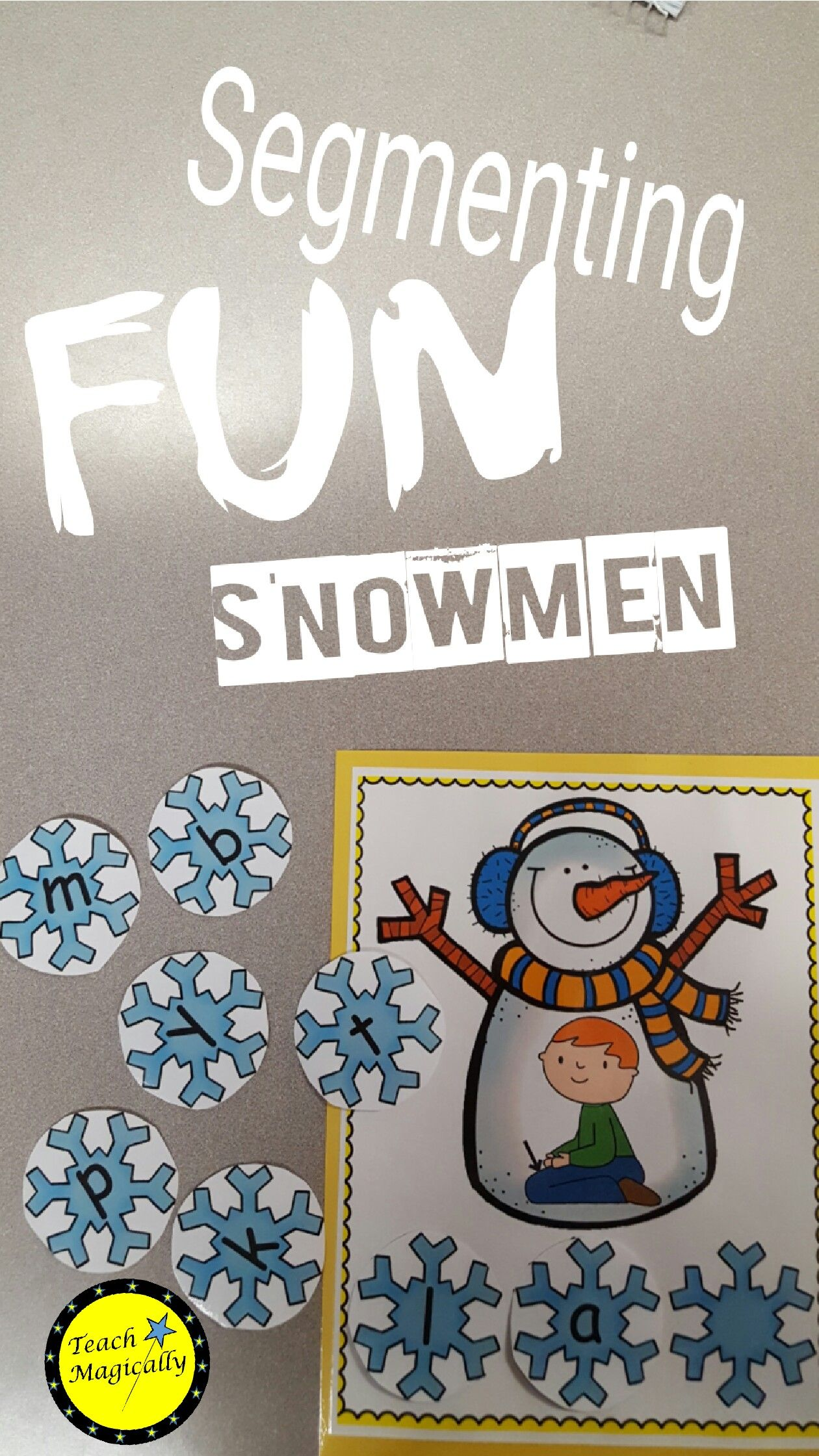 Segmenting And Blending Snowmen Cvc Short A Words