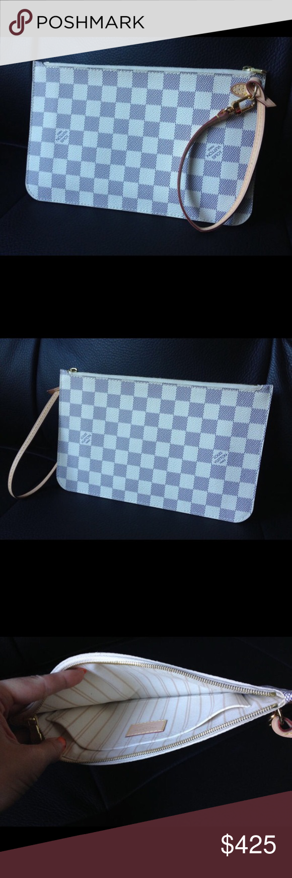 Louis Vuitton Pouch Clutch. 100% Authentic Guaranteed  Louis Vuitton pouchette/wristlet from the MM Neverfull  Approx. size : W24.5cm ×H15cm Brand new.  Date code is MS3144. Shipping with tracking code (EMS, Express Mail Service). Louis Vuitton Bags Clutches & Wristlets