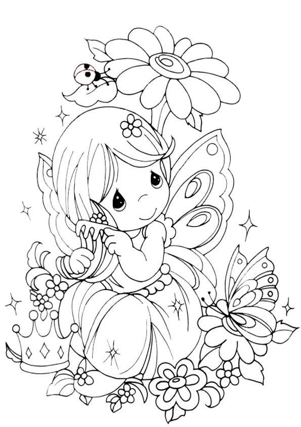 Ausmalbilder-Feen-1 | fairies | Pinterest | Mandala, Free motion ...