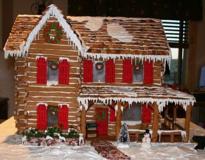 Log Cabin Construction Comprised Of Whole Logs And