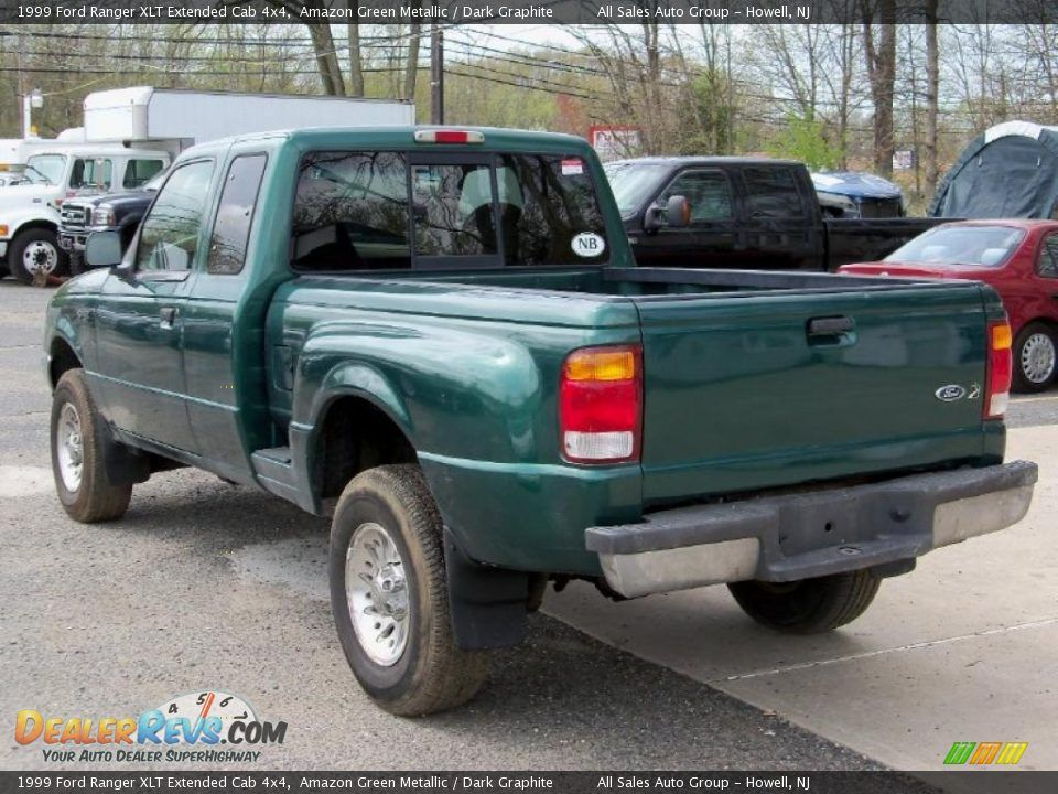 1999 Ford Ranger Xlt Extended Cab 4x4 Amazon Green Metallic Dark