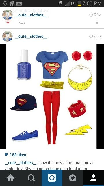 Cute superman clothes