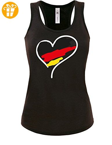 Europameisterschaft 2016 Deutschland Herz - Damen Tanktop (*Partner-Link)
