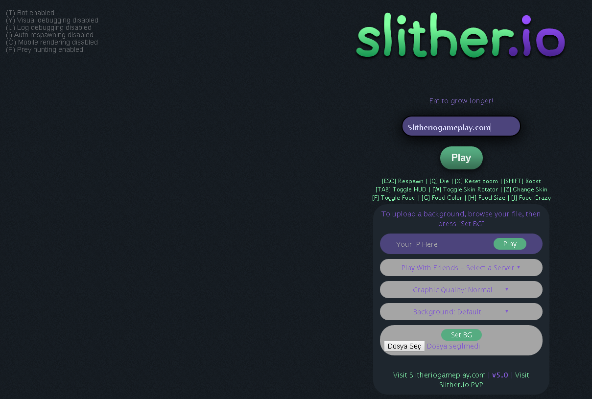 Slither.io Mod SGP v5 Slitherio, Slitherio game, Simple game