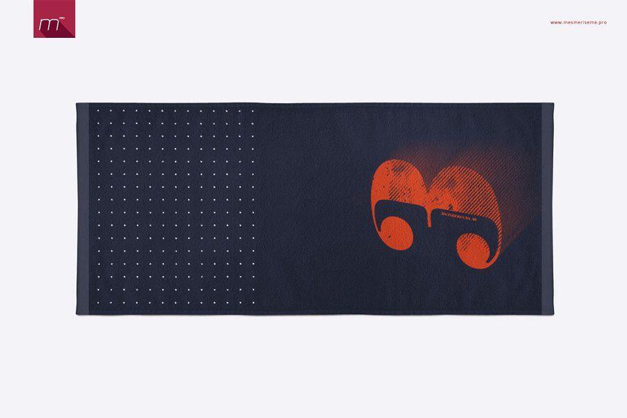 Download Gym Towel Mock Up Gym Towel Illustration Artwork Sketches Design Mockup Free