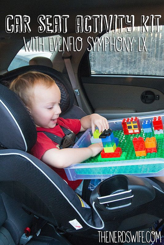 Car Seat Activity Kit With DIY Lego Tray Perfect The Evenflo Symphony LX EvenfloPlatinum