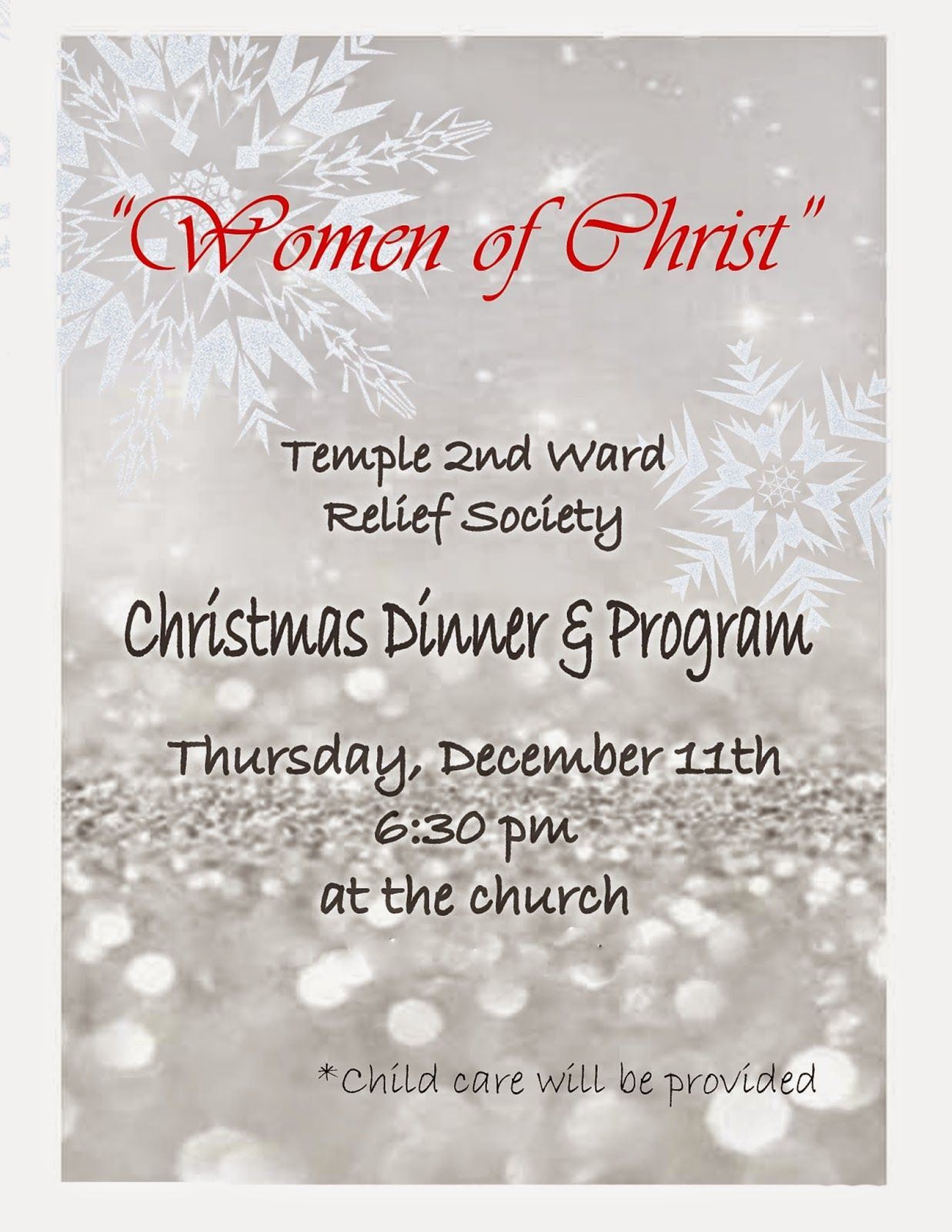 Attractive Lds Ward Christmas Party Program Ideas Part - 8: FRelief Society Sisters Of The Temple Ward Relief Society: Relief Society Christmas  Program And Dinner- December 11