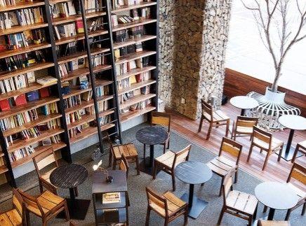 Book Cafe Comma Korea Book Cafe Cafe Design Library Cafe