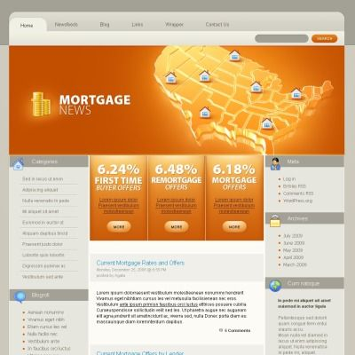 Mortgage PSD Template Psd templates and Template - mortgage templates