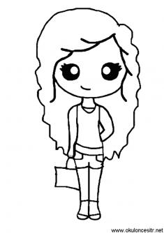 Kiz Boyama Sayfasi Okuloncesitr Preschool Boyama Kitaplari Boyama Sayfalari Doodle Desenleri