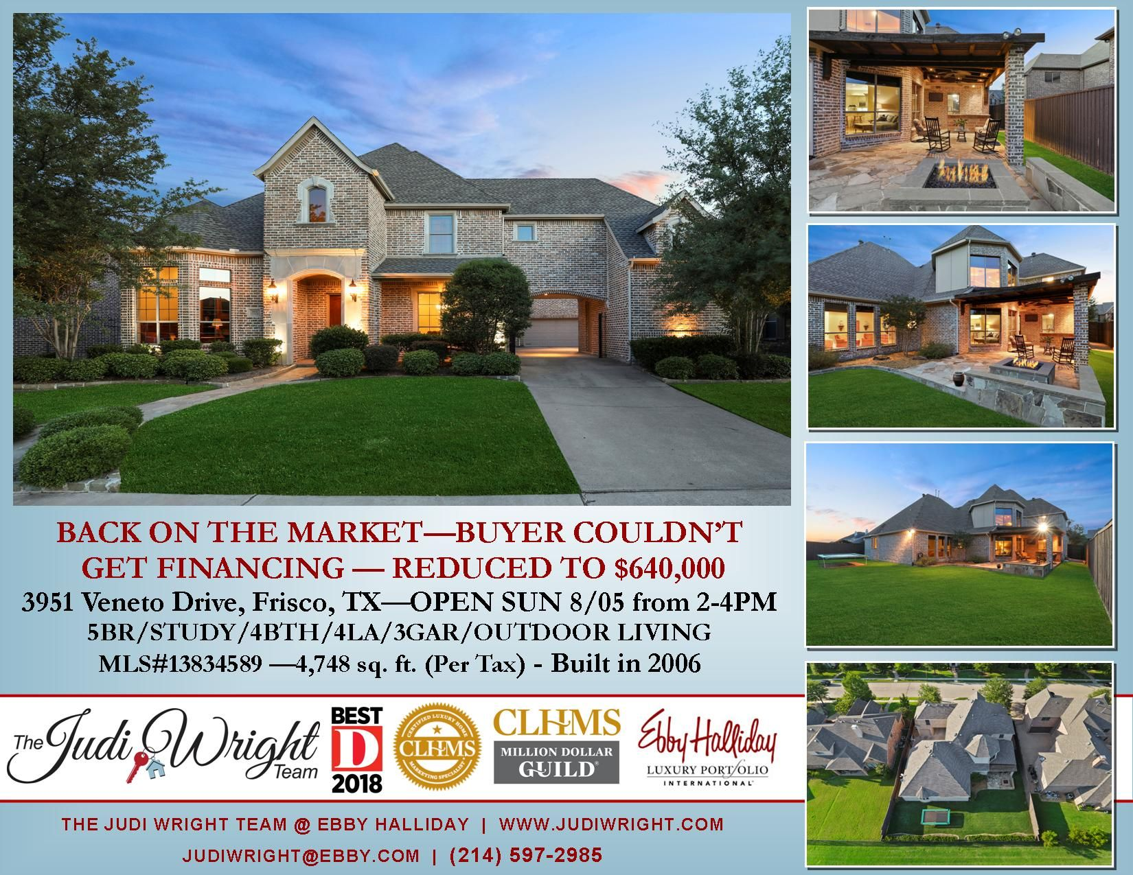 Back On The Market In Frisco S Griffin Parc Frisco Isd Wakeland Hs Buyer Couldn T Get Financing You Know The Drill Great Open House Frisco Isd Outdoor