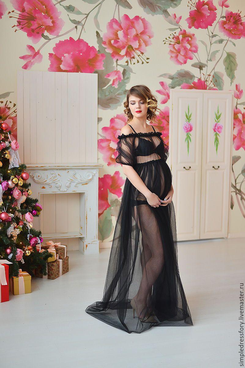 ccb4035f032 Будуарное платье (пеньюар) для беременных – купить в интернет-магазине на  Ярмарке Мастеров с доставкой