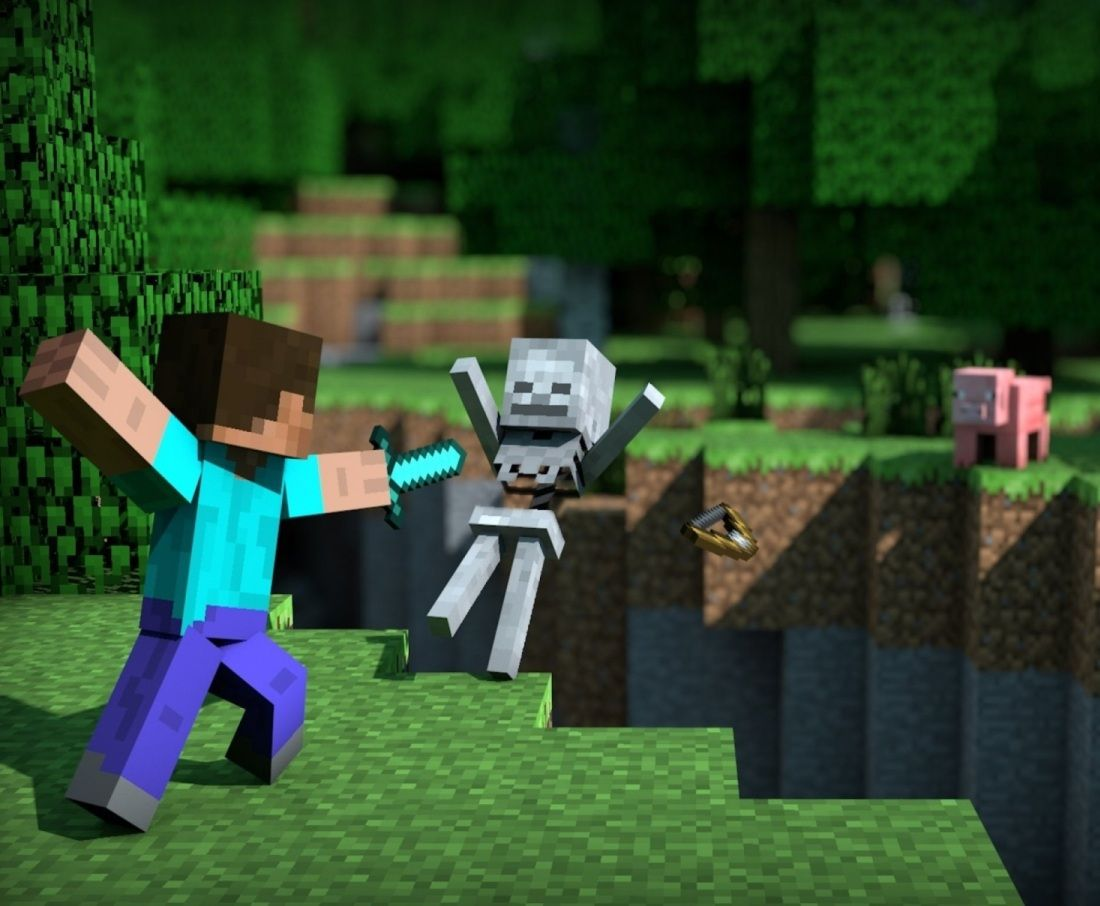 Afficher Limage Dorigine Fond Ecran Minecraft Minecraft