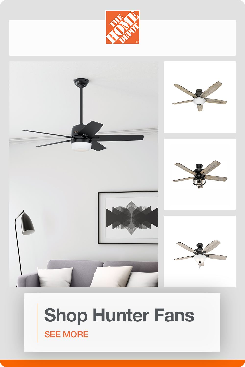 Shop Top Quality Hunter Fans At The Home Depot In 2020 Ceiling Fan Ceiling Fan With Light Hunter Ceiling Fans
