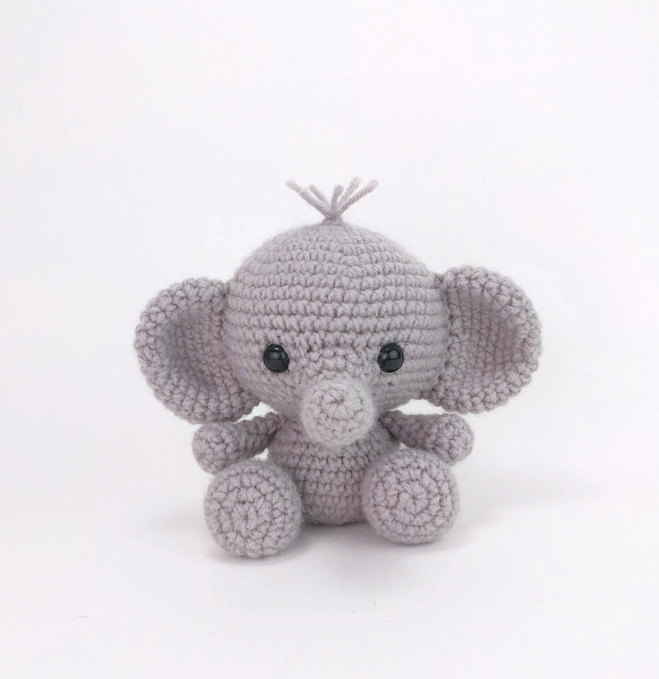 PATTERN: Ellis the Elephant - crochet elephant pattern - amigurumi elephant pattern - English, German, Portuguese - PDF crochet pattern #crochetelephantpattern