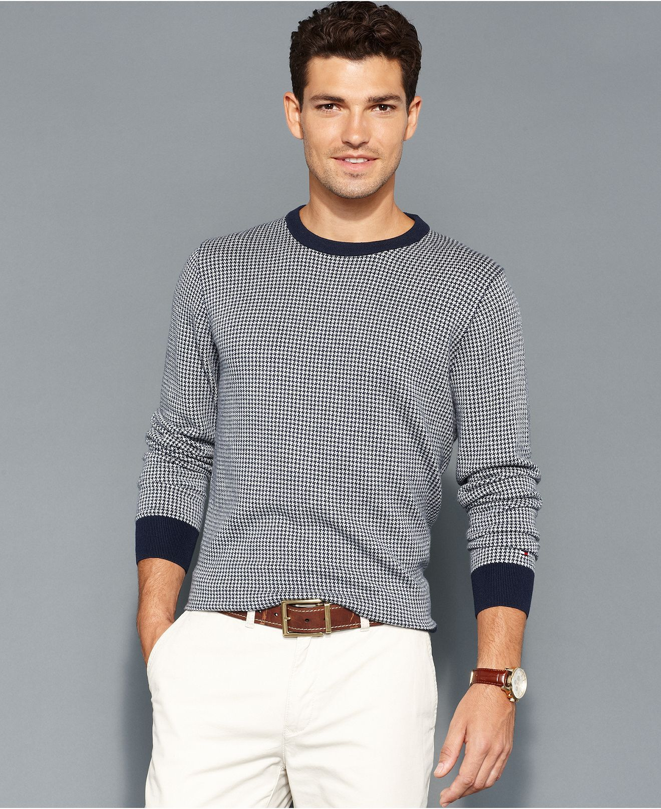 Tommy Hilfiger Sweater, American Houndstooth Sweater