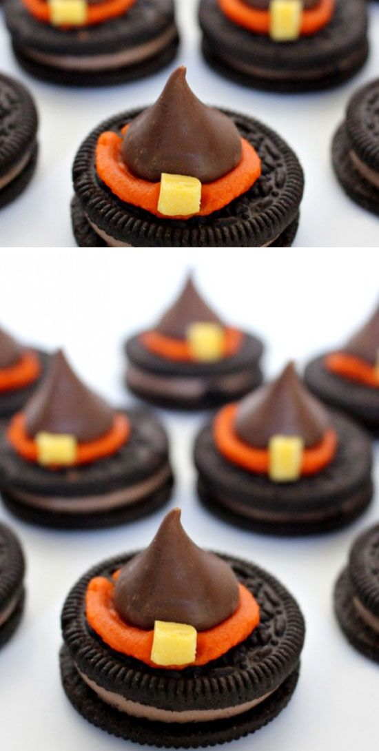 Witch Hat Cookies Click Pic for 24 Easy Halloween Treats for - halloween treat ideas for school parties