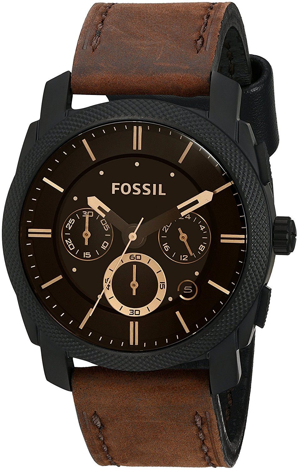 Fossil Men's FS4656 Analog Watch with Brown Band Fossil