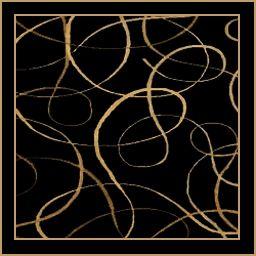 Black Gold Swirl Rug 3 Rugs Clearance Rugs Area Rugs