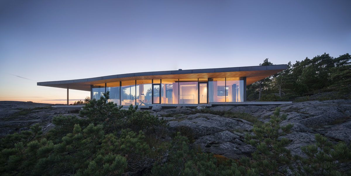 Modern Sea Front Summer Glass House In Finland Idesignarch Interior Design Architecture Interior Decorating Emagazine Pavilion Design Modern Glass House Glass Pavilion