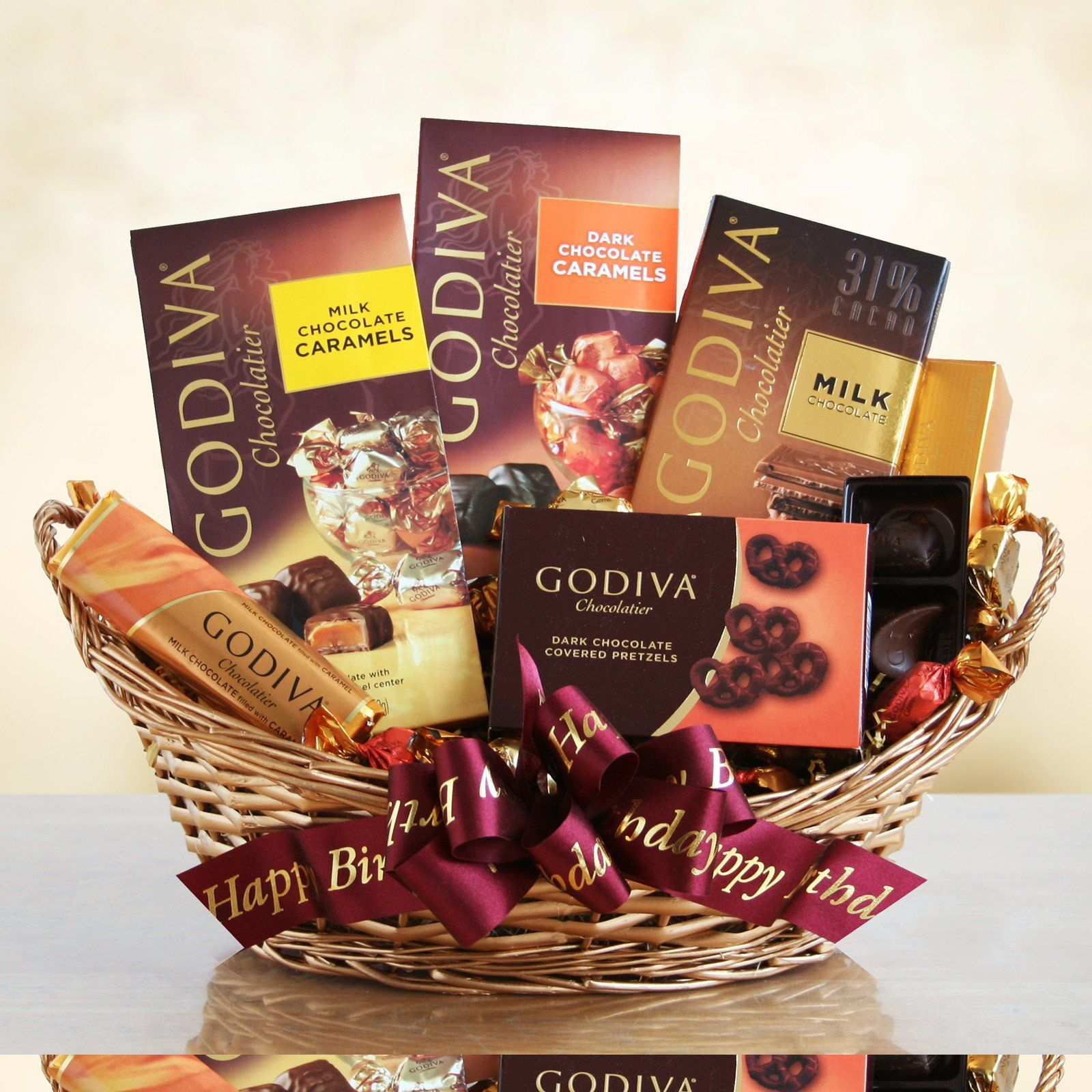 Godiva Chocolate Lovers Birthday Surprise Gift Basket