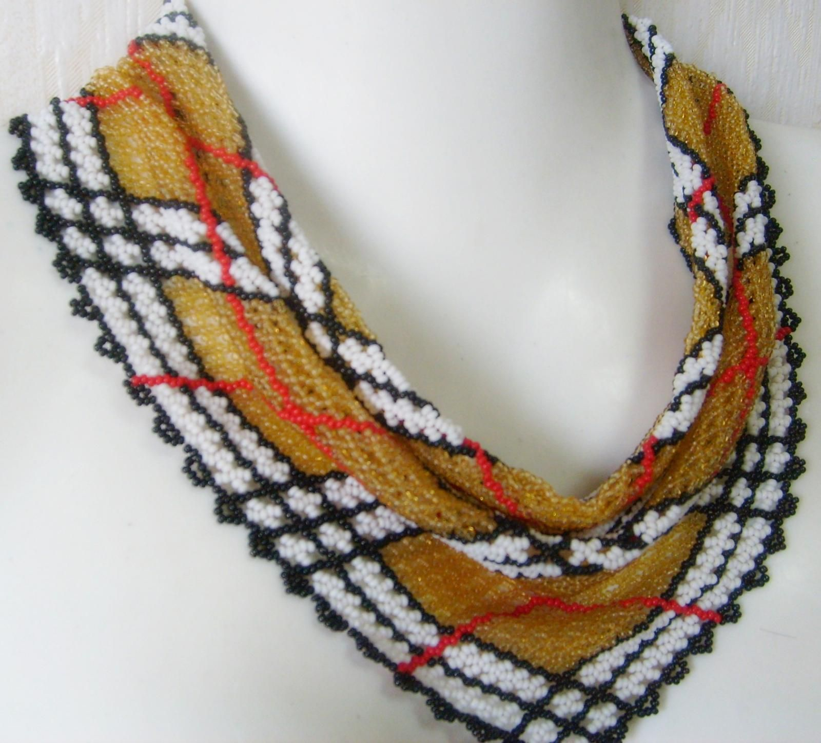 ожерелье-косынка схема