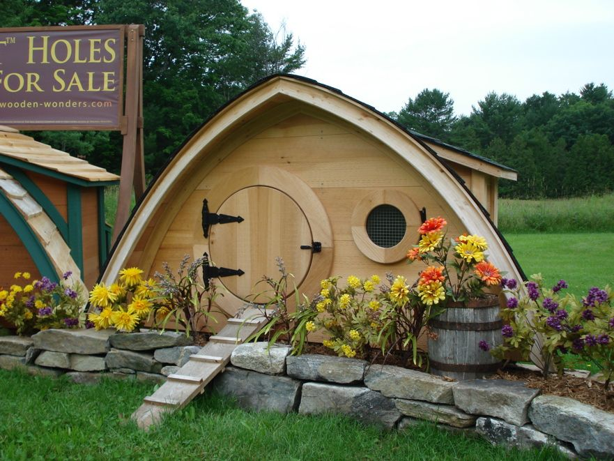 Have just a few pet birds?  We have a Hobbit Hole Chicken Coop for that!