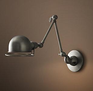 Task Sconces | RH in 2020 | Wall mounted bedside lamp ...