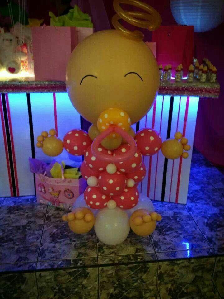 Little baby girl Centros de mesa y decoración con globos