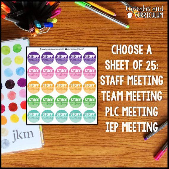 Teacher Planner Stickers by Cupcakes  Curriculum