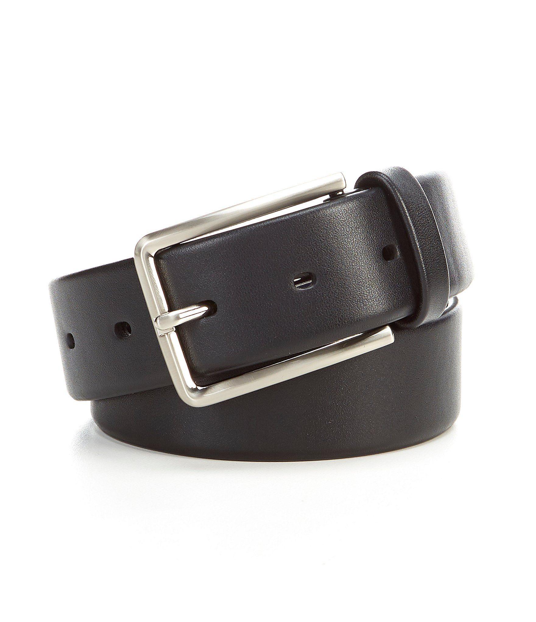 Cremieux Tubular Stretch Leather Dress Belt - 34
