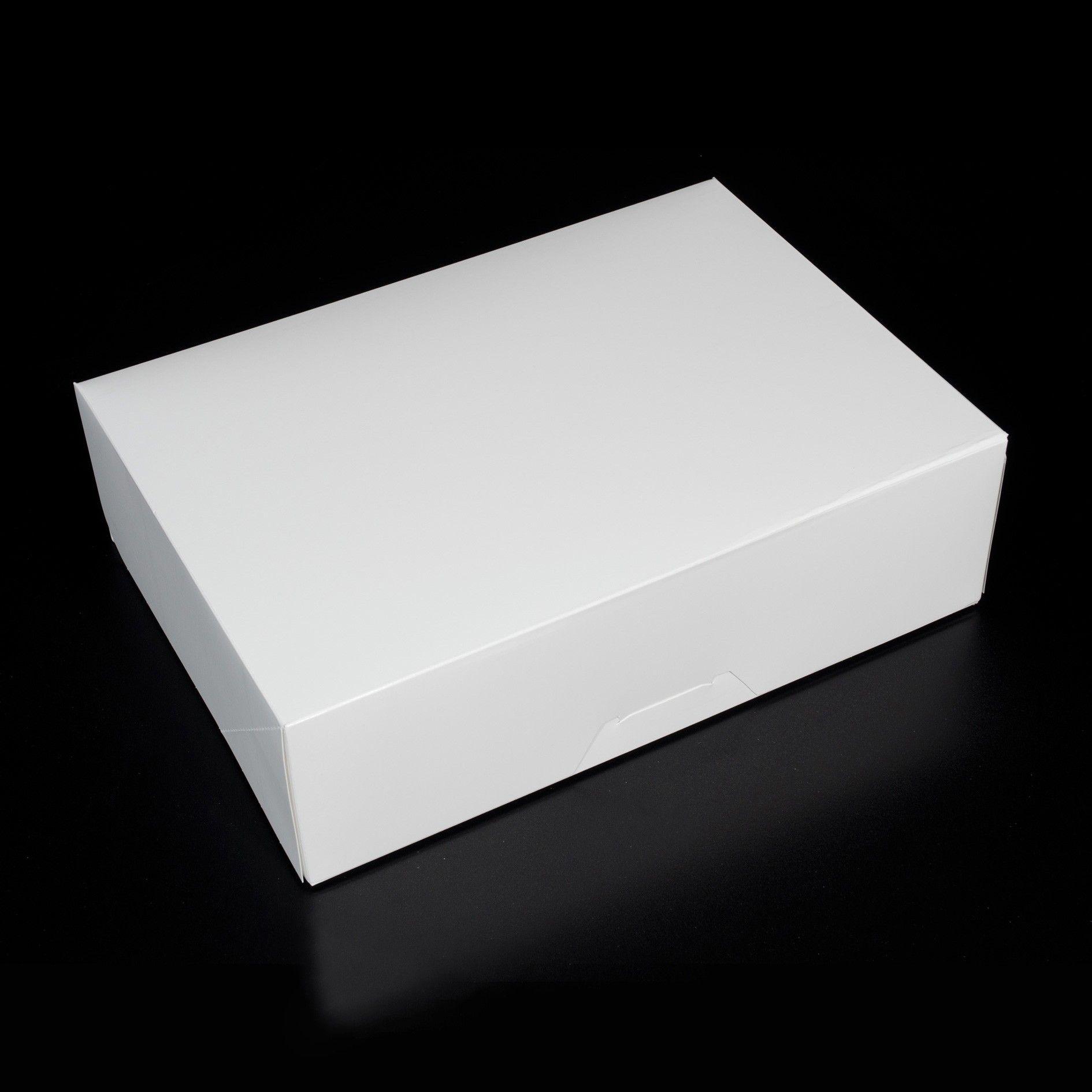 14 x 10 x 4.25 - 1/4 sheet cake box / dozen cupcake box / cookie box - no window (10 pack)