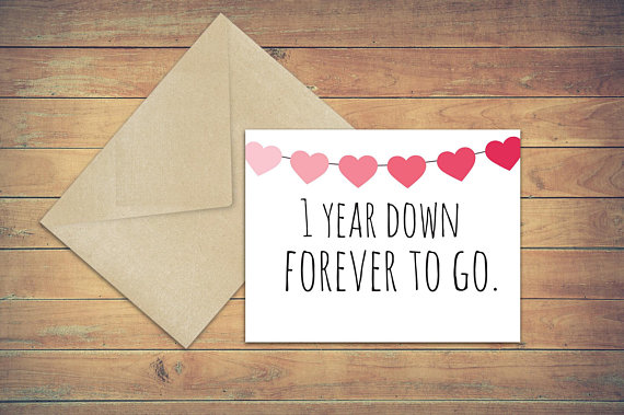 dating for one year cards