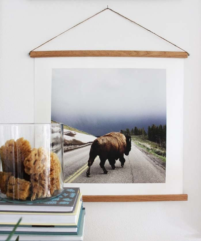 Easy DIY Dowel Rod Frames With Poppytalk | DIY | Pinterest