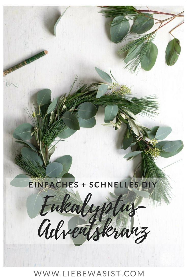 Es muss nicht immer Tanne sein: minimalistischer Adventskranz im Scandi-Chic Stil #adventskranzskandinavisch
