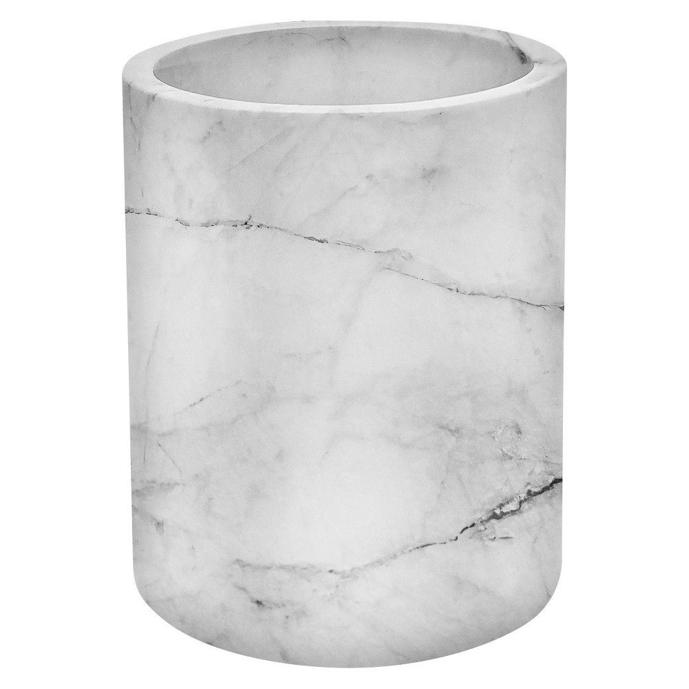 Large Marble Utensil Holder - Threshold, Natural   Marble ...