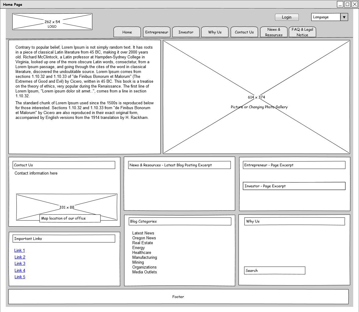 Website Wireframe: This Is An Example Of A Medium Fidelity Wireframe