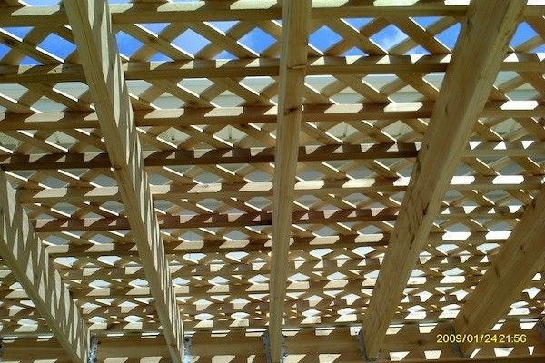 Lattice On Top Of Wood Pergola In Mchenry County Built By
