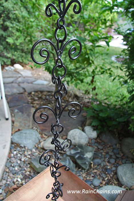Rain Chains Buy Direct At Discounted Prices Rainchain Rainchains Downspouts Rain Chain Downspout Rain Garden