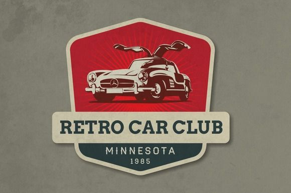 Check Out Retro Car Club Logo By Sgc Design On Creative Market