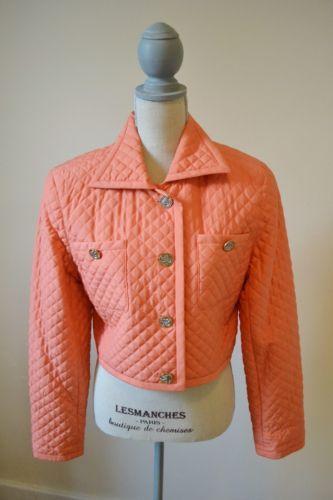 Emanuel UNGARO Jacket 100 Silk Bright Coral Size 14 48   eBay