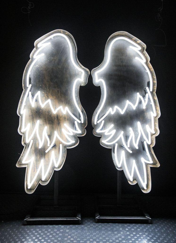 Angel Wings Neon Neon Signs Neon Wallpaper Neon Lighting