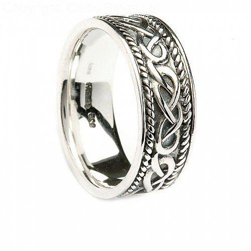 Mens Silver Celtic Design Ring C41491 what i like Pinterest