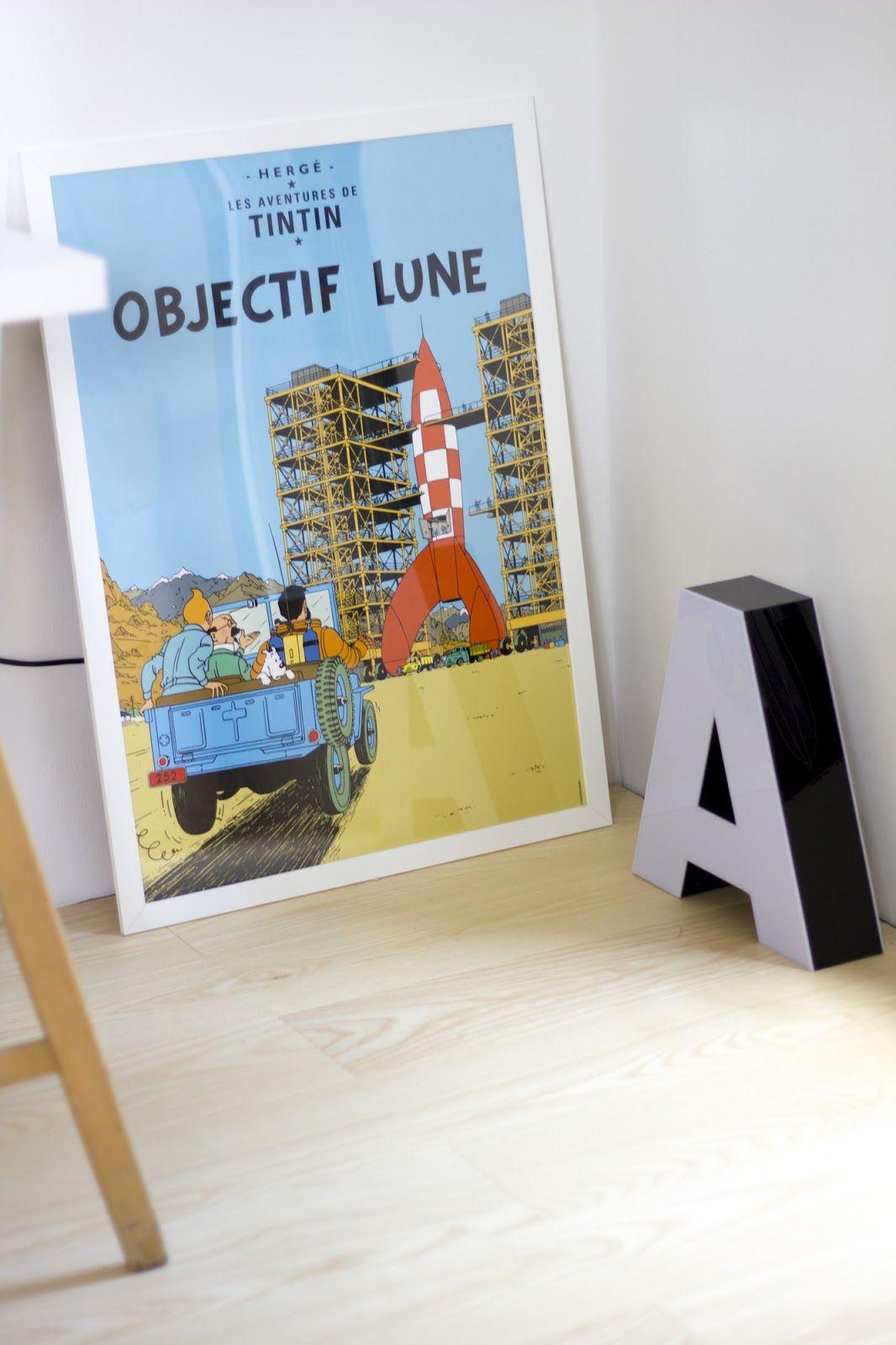 Children Room Tintin Poster Lastenhuoneen Tintti Juliste Harmonic