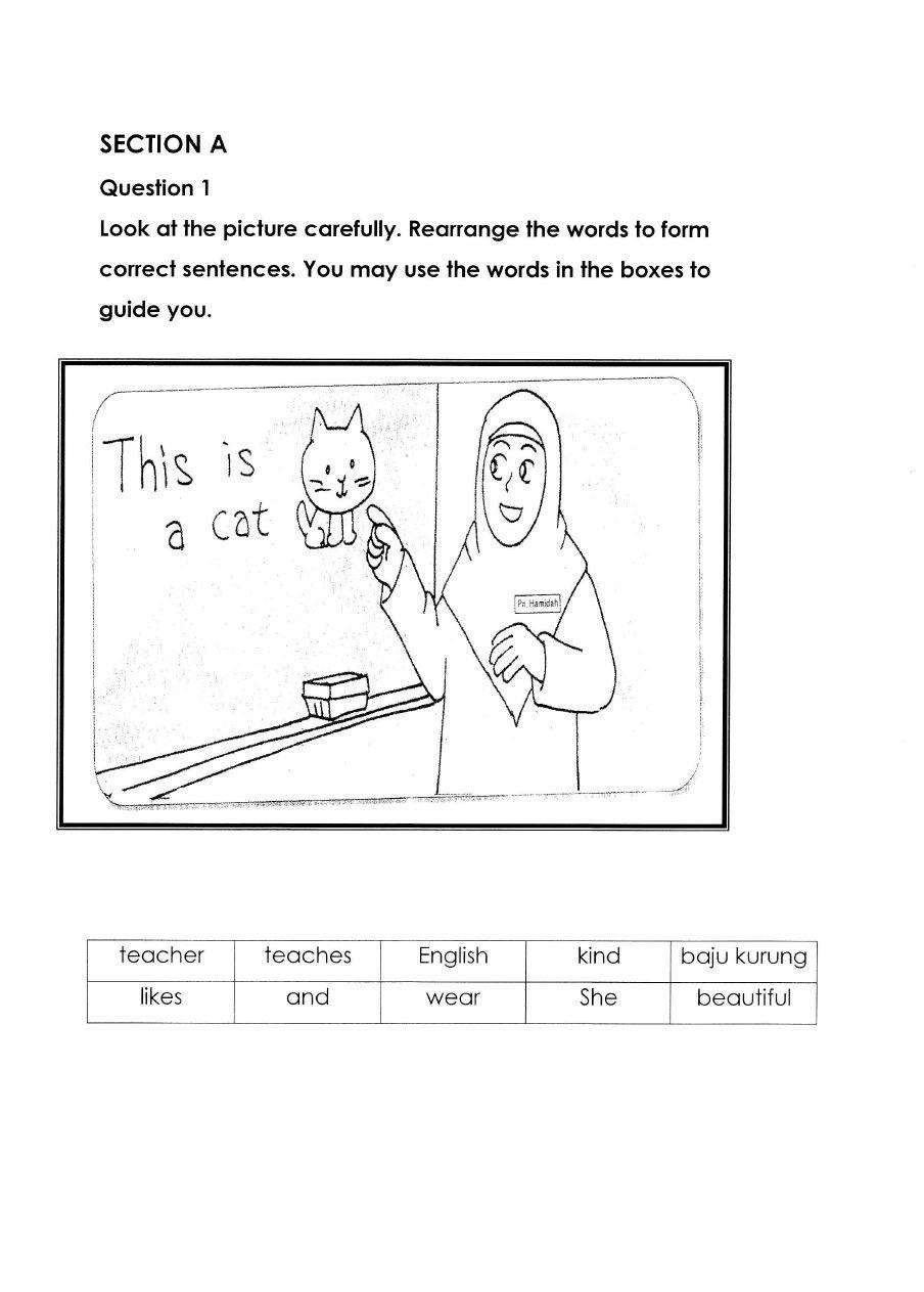 Soalan ENGLISH BI Bahasa Inggeris Tahun 2 Paper 2 | adib | Pinterest ...