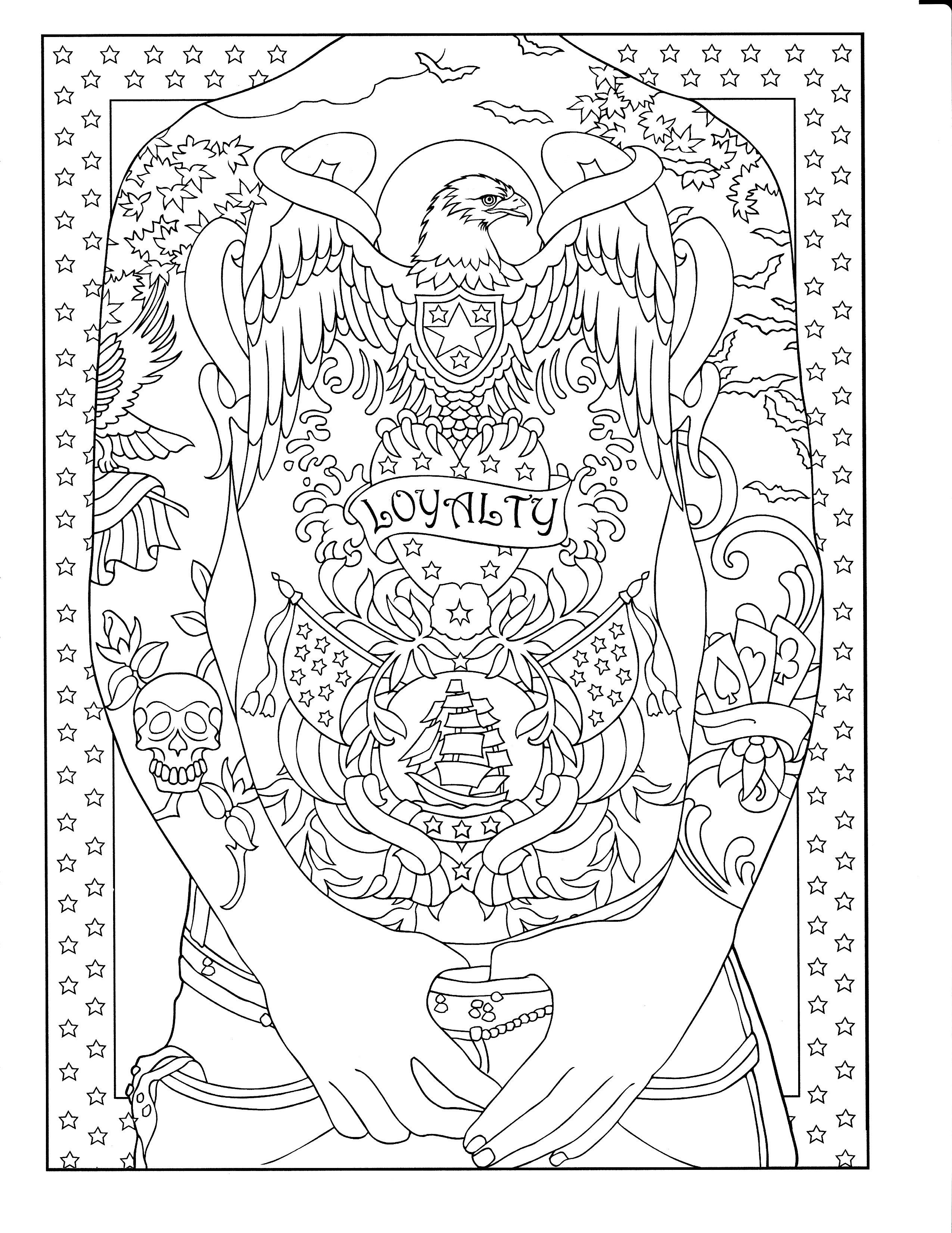 - Printable Coloring Page Tattoo Coloring Book, Designs Coloring