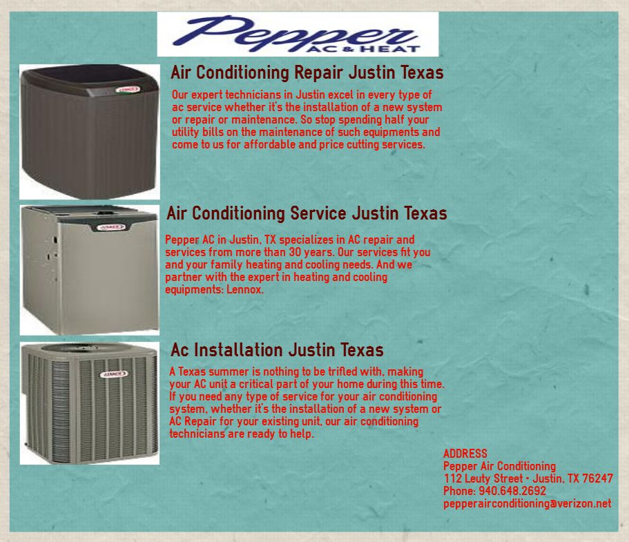 Pin by Pepper AC on Air Conditioning Service Justin TX