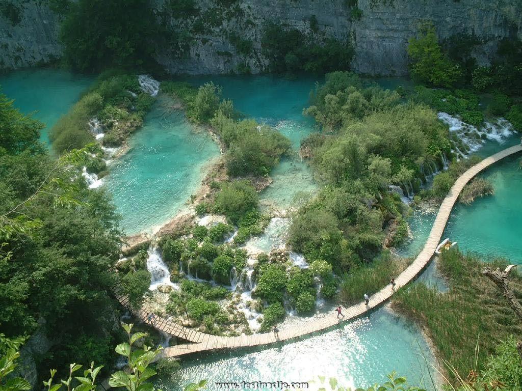 Aerial shot of Plivitce Jezera national park