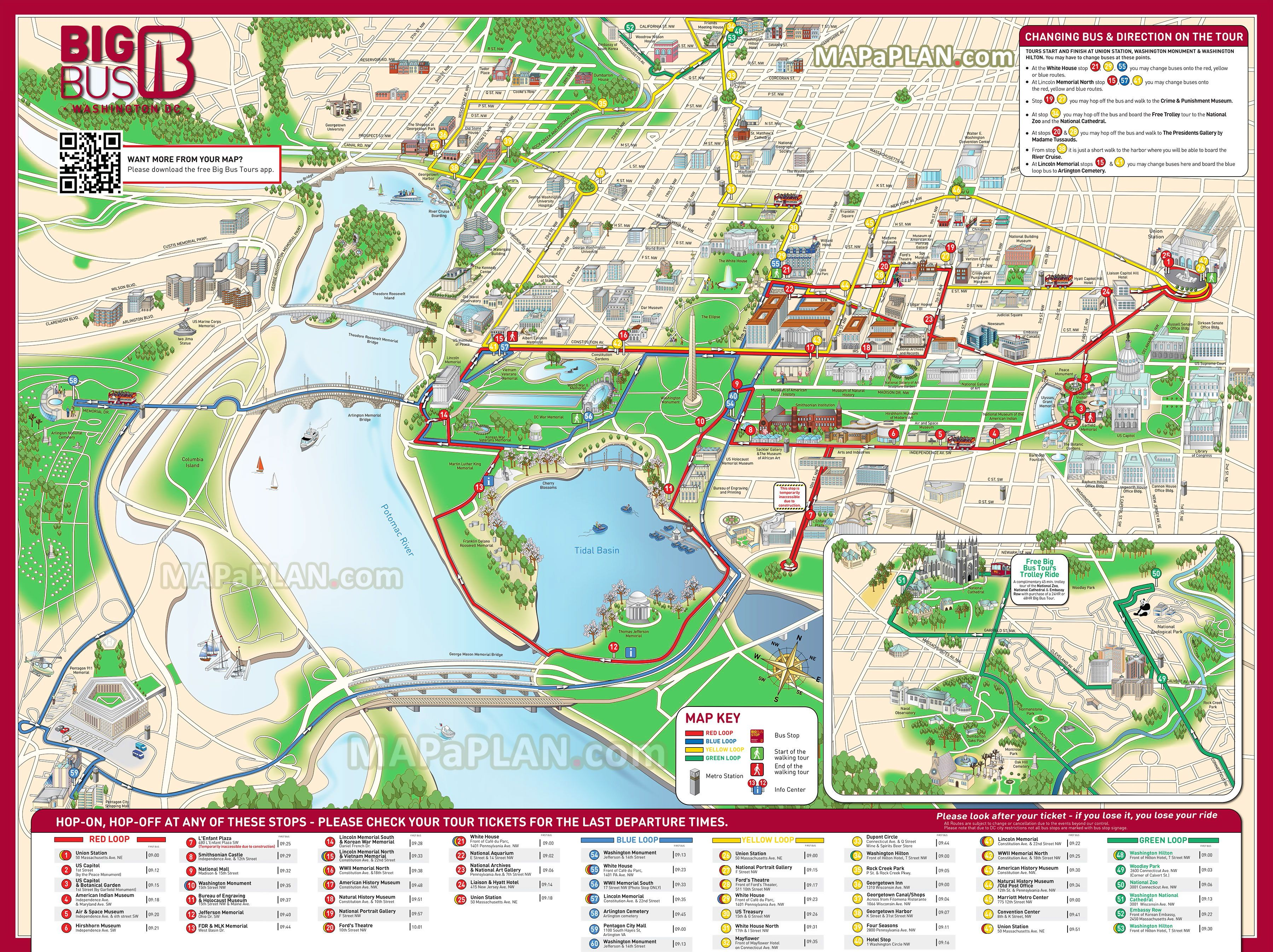 Best  Washington Dc Tourist Map Ideas On Pinterest - Chicago map attractions
