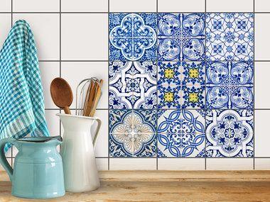 Fliesenaufkleber Set Kuche Pinterest Kitchen Tiles Kitchen